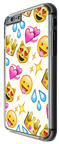 1307 - Cool Fun Trendy cute kwaii colourful emoji apps emoticons hearts smiley face funny (9) Design iphone 6 6S 4.7'' Coque Fashion Trend Case Coque Protection Cover plastique et métal - Clear