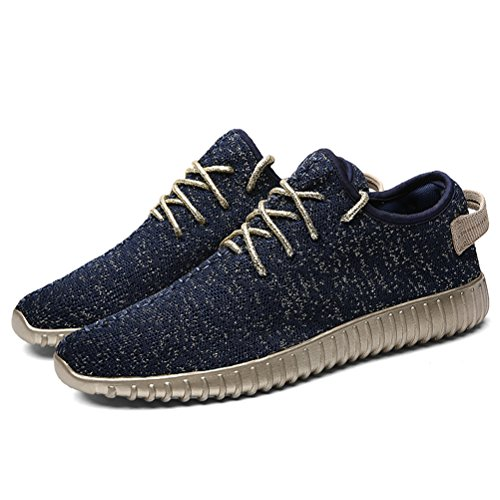 T&Mates Mens Casual Fashion Sneakers Breathable Walking Athletic Sports Running Shoes Blue FDyRLImR