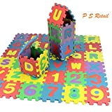 Alphabet Numerals Play Mat Mini Puzzle - 36 PCS (26 Alphabet and 10 Numerals)
