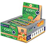 UCAN Snack Bar Box, Peach Passion, With UCAN SuperStarch ®, Low Sugar, Gluten-Free, Plant Protein, No Trans Fats, Naturally Sweetened, 1.5 Ounces, 12 Count