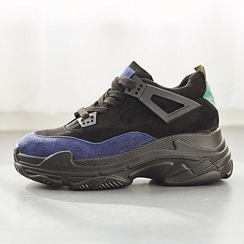 noir Thirty-eight GUNAINDMX  chaussures Sports Décontracté chaussures chaussures nouveau All-Match .