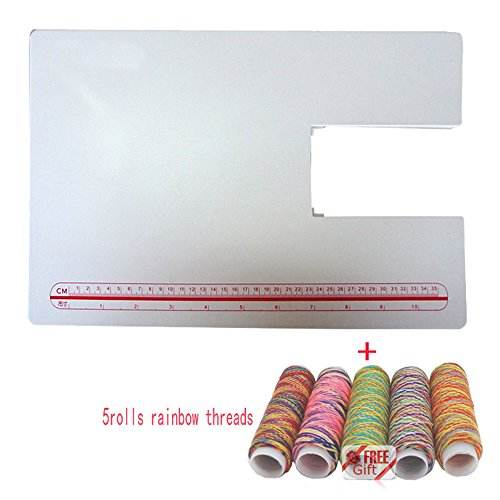 LNKA Sewing Machine Extension Table for Singer 4411 4423 4432 5511 5523 5Rolls Rainbow Threads As Gift