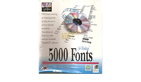 Amazon com: CrystalVision 5000 Fonts for Windows