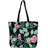 "EcoRight Reusable 100% Cotton Canvas EcoFriendly Large Tote Bag Printed ""Sparrows"""