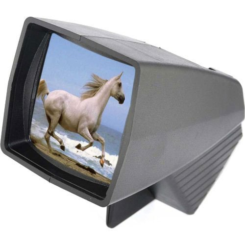 Pana-Vue 1 Lighted 2x2 Slide Film Viewer with AC Adapter + (3) Microfiber Cleaning Cloths