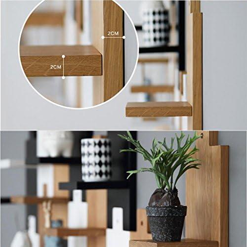 棚板と棚、家の壁ラックオーク木製の壁の壁のパーティションリビングルームシンプルなモザイクのパーティションの装飾フレームを組み立てる , C