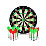 Towinle Dartboard, 17' Magnetic Dartboard with 12 Magnets Darts Arrows in 2 colors for Children and Adults