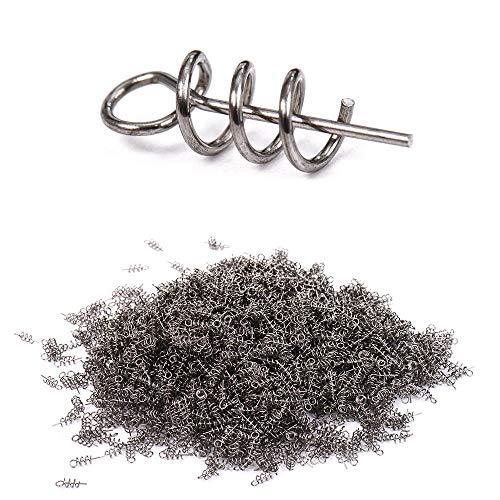 Unipro 50Pcs/lot Fishing Hook Centering Pins Fixed Latch Needle Spring Twist Crank Lock for Soft Lure Latch Pin