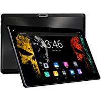 10 Inch Tablets PC Android 7.0 Octa Core 1280x800 IPS 4GB RAM 64GB ROM 3G Phone Call Dual Sim Card 10.1 Tablet Wifi Bluetooth GPS With Cameras Support Google store-Black