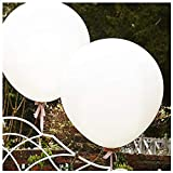 DAILIN Giant Balloons 36 Inch white balloons - 6 Big latex balloons for Birthdays Wedding and Event Decorations