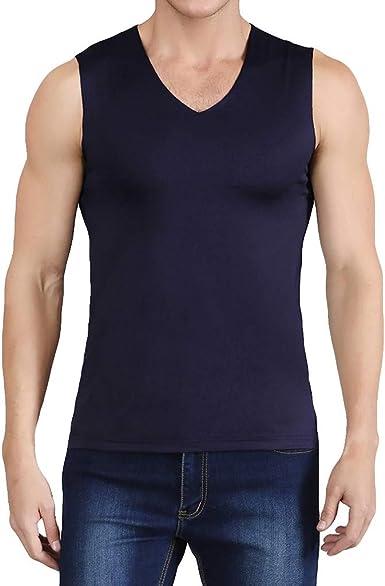 MINGGER Gimnasio camiseta hombres sin mangas blusa Bingsi no ...