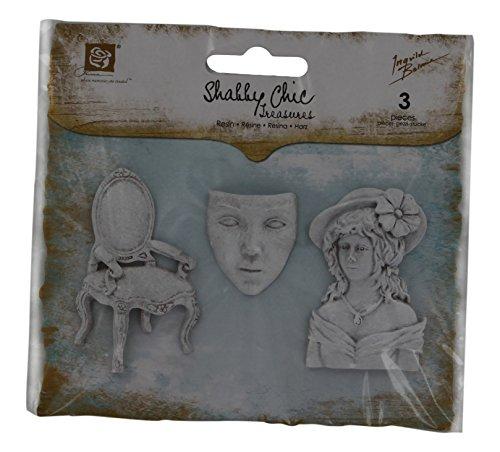 (Prima Marketing Shabby Chic Resin Treasures-Allure 3/Pkg 1.25