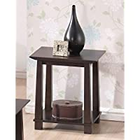 Baxton Studio Havana Wood Modern End Table, Brown