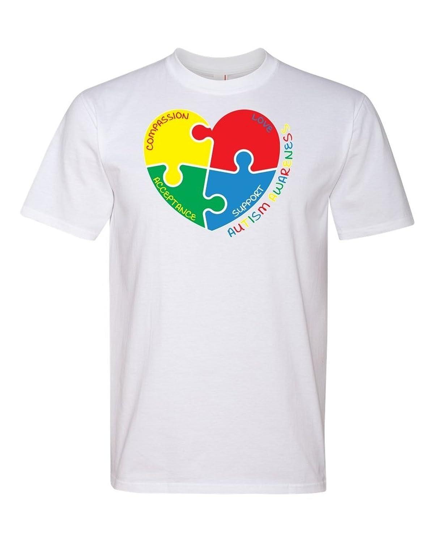 TeeWorlds Autism Awareness Heart. Unisex T-Shirt