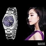 Smalody Fashion Casual Women Watch Stainless Steel Ladies Watches Quartz Analog Wristwatches