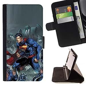 Momo Phone Case / Flip Funda de Cuero Case Cover - Hombre Azul carácter cómico - LG G2 D800