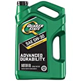 quaker motor oil - Quaker State 550044963 Advanced Durability 5W-30 Motor Oil (SN/GF-5), 5 quart