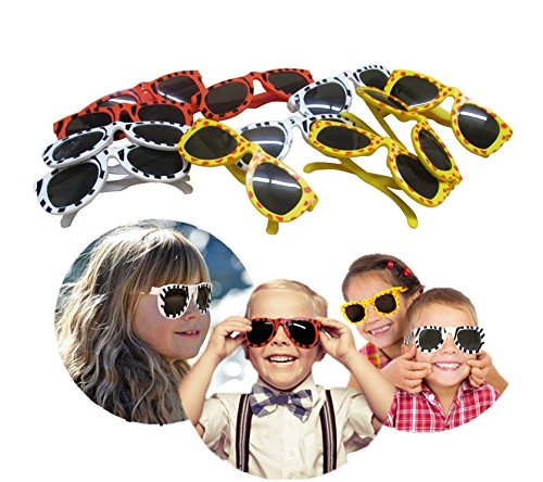 Sunglasses - 12 Pieces - Wild Animal Print Party Favor Glasses - Ideal Bulk Pack for Holidays, Birthday Parties, Dress-Ups, Halloween Masquerades, and more!