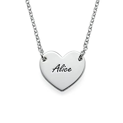 Amazon sterling silver engraved heart necklace 14 inches sterling silver engraved heart necklace 14 inches mozeypictures Gallery
