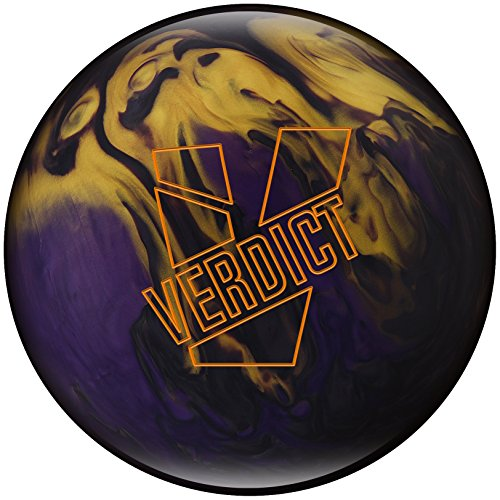 Ebonite Verdict Pearl Bowling Balls, Smoke/Gold/Violet, 15LBS