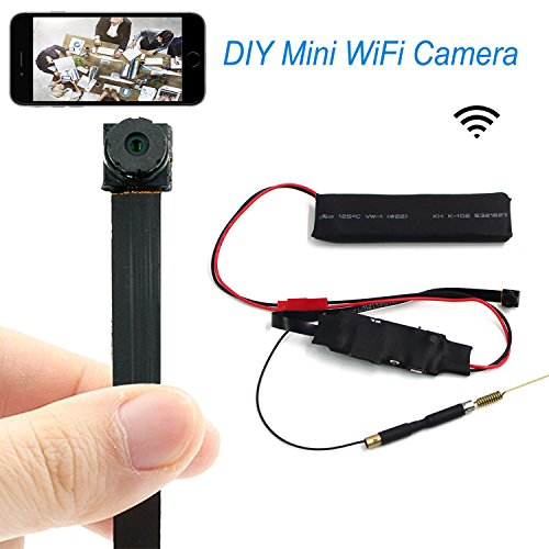 CAMAKT HD Smallest Super Min Wifi Signal DIY Nanny Camera Module, 1080P Portable P2P IP Wireless Covert Security Pinhole Cam Motion Activated Video Recorder for Smartphone Live View APP Remote Monitor (Pinhole Video Wireless Recorder)