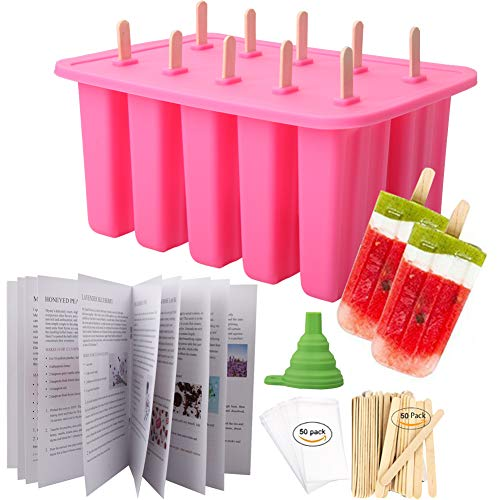 Homemade Popsicle Molds with 50 Popsicle Sticks & 50 Popsicle Bags
