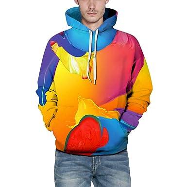 Amazon.com: MODOQO - Sudadera con capucha para hombre, color ...
