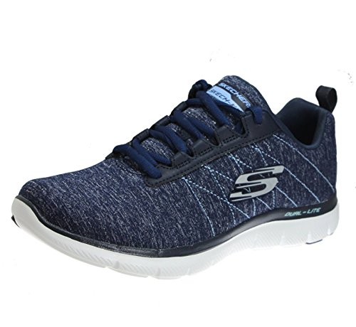 Skechers Flex Överklaga 2,0 Womens Mode Sneakers Marinen