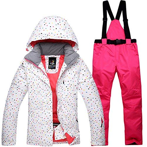 3 Ski Jacket  Waterproof Ski Suit Snow Suit Winter Skiing Keep Warm Women's Ski Jacket and Pants SetSuitable for Snowboarding, Mountaineering  Multicolor