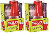 Solo 9 Oz Plastic Cup, Lid, & Straw Combo Pack, 30 Cups, Red (2x 15cup Packs) (2, Red)