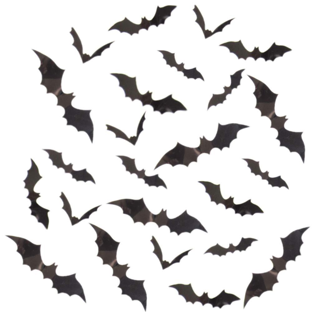 12 pieces 3D PVC Black Bat Wall Sticker Halloween Black Sticker
