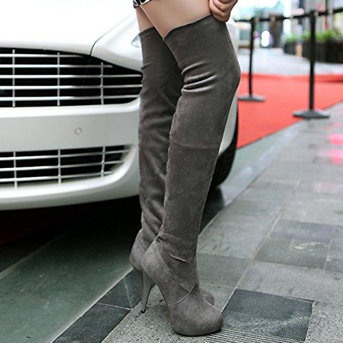 Boot Women's AIYOUMEI Classic Women's Women's Boot Classic Grey Grey Boot Classic AIYOUMEI AIYOUMEI 0wxqpO5