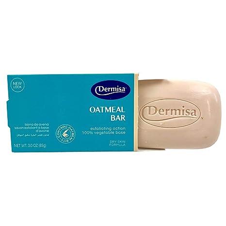 dermisa jabón exfoliante 3oz de harina de avena