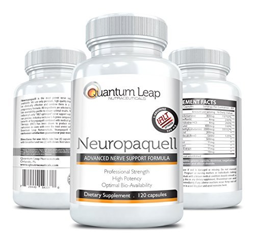Neuropaquell. Clinical Strength Neuropathy Pain Relief. Advanced Nerve Support Formula. by Quantum Leap Nutraceuticals