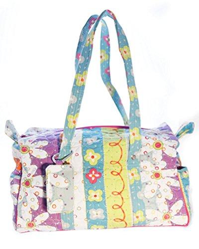 Donna Sharp Small Duffle Quilted Handbag (POSY)