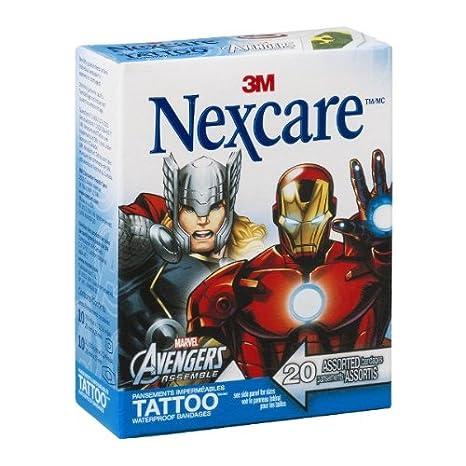 Nexcare Vendajes de tatuaje impermeables Marvel Avengers ...
