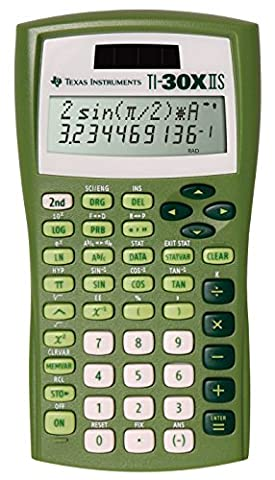 Texas Instruments TI-30X IIS 2-Line Solar/battery-Powered Scientific Calculator, Lime Green (The Texas Triangle)