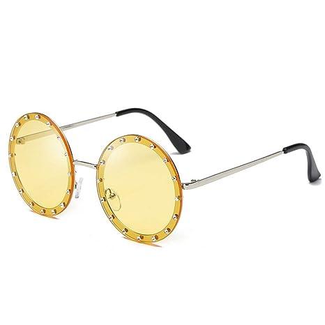 Gafas de sol para hombre Womens Round Retro conducción gafas ...