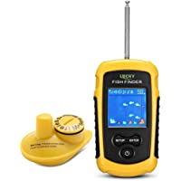 $61 » LUCKY Wireless Fish Finder Kayak Fish Finder for Boat Fishing Anti-UV LCD Display Sonar Sensor…