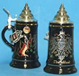 King-Werks Black Deutschland & Flags German Beer Stein 0.50 Liter