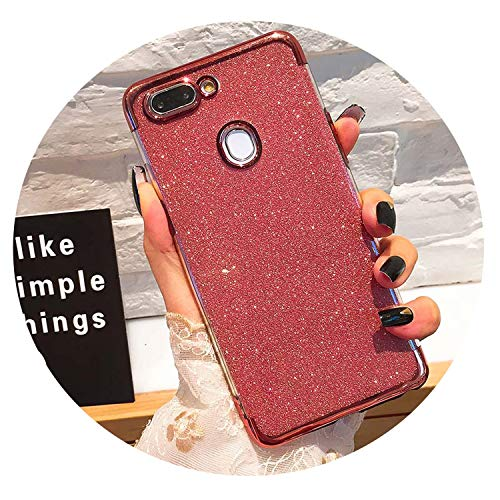 Rhs Rose - Glitter Bling Phone Cases for Huawei Mate 20 Lite X P Smart 2019 Plating Soft TPU Case on Honor 8X 7A 7C 10 9 P30 P20 Pro Lite,Rose,Hooner RHS .45inch
