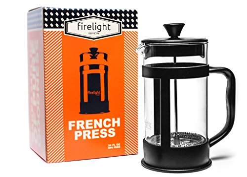 Firelight 8 Cup French Press Coffee Maker 34 Oz Black