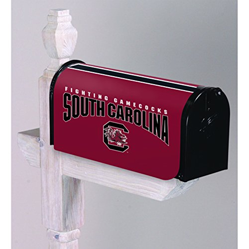 Evergreen NCAA South Carolina Fighting Gamecocks Mailbox Cover, Team Colors, One Size ()