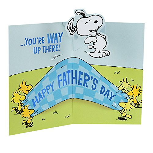 Hallmark Father's Day Greeting Card from Child or Kids (Snoopy and Woodstock Peanuts Pop-Up) Photo #4