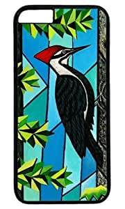 Woodpecker Bird Masterpiece Limited Design PC Black Case for iphone 6 by Cases Mousepads