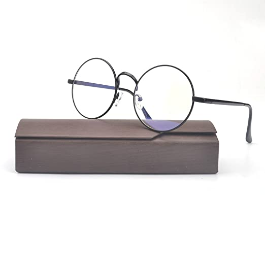 d02b9dd597 Amazon.com  MINCL Retro Round ready Metal Eyeglasses Frame 50mm ...