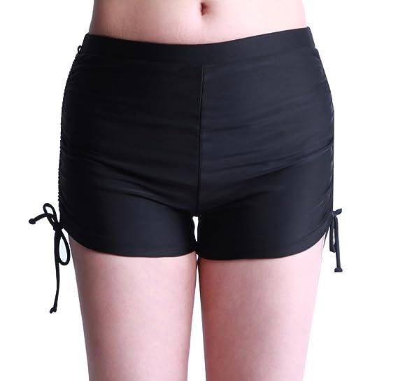 ba0a7894ac ZDUND Women's Plus Size Swim Shorts Boyleg Swimsuit Bottoms Tankini  Swimwear Bottom Beach Swim Board Shorts