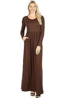 6b525cdb52a Zenana Premium 7011 Casual Women s Long Maxi T-Shirt Dress with Half ...