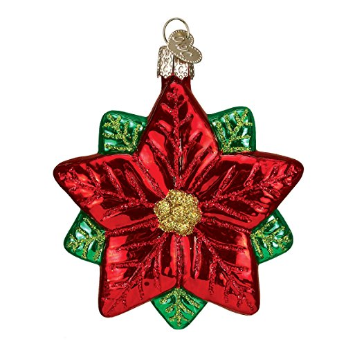 Old World Christmas Poinsettia Star Glass Blown Ornament