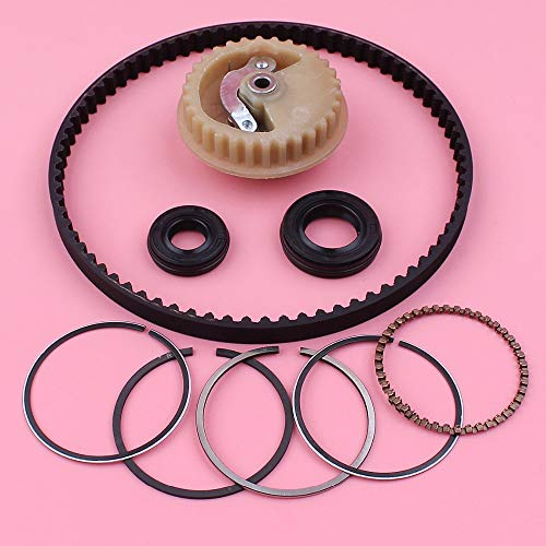 - Camshaft Pulley Gear Timing Belt 39mm Piston Rings Oil Seal Set for Honda GX35 GX 35 Lawn Mower Small Engine Part